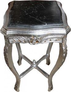 Barock Beistelltisch Silber ModY3  73x 39 cm