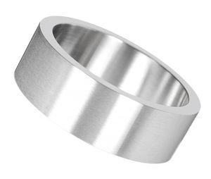 Fingerring: Herren Ring Edelstahl Partnerring, Ringgrösse:62 (19.7 mm Ø)