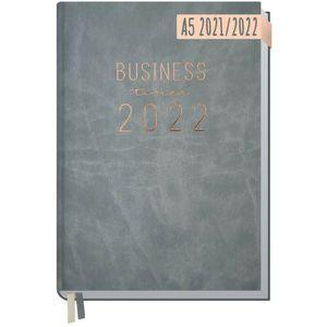Häfft Business-Timer 2021/2022 Grau-Rosé / A5 / 18 Monate