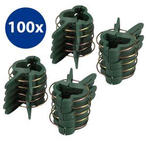 100x Pflanzenclips Pflanzenklammern Pflanzenhalter Pflanzenbinder in Klein