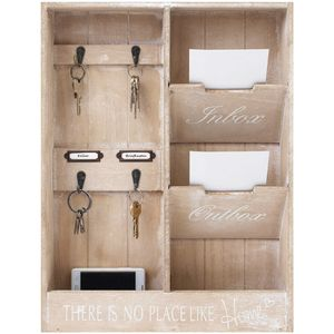 Wandorganizer 'In & Out' mit Holztaschen und Metallhaken