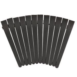 Abteilklammern Haarklammern Kunststoff Schwarz Menge: 12 Stück Haarstyling Clips Haarclips