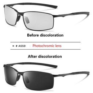 Polarisierte photochrome Sonnenbrille Herren Chamäleon Fahrsportbrille Brille