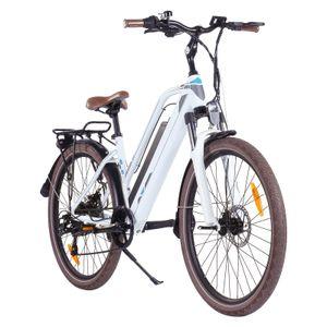 26-Zoll-Räder Elektrofahrrad, Unisex City Bike 48V 12,5 Ah 250 W Motorleistung, Höchstgeschwindigkeit 25 km / h, Kann 35 ° Steigung E-Bike klettern