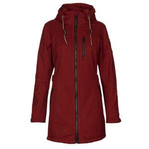 killtec Damen Casual Soft Shell Parka mit abzipbarer Kapuze MATAVA 29266-455 dunkelrot, Damen Größen:40, Farben:rot