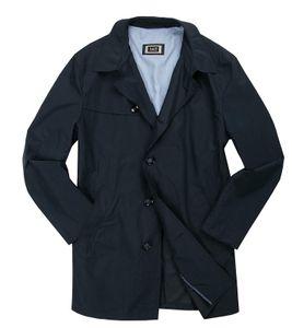 bugatti Frühlings-Mantel leichte Herren Übergangs-Jacke mit Kragen Marine, Größe:26