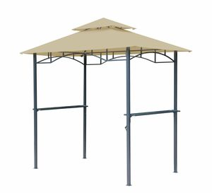 Grasekamp Grillpavillon BBQ 1,5x2,4m inkl.  Flammschutzdach sand
