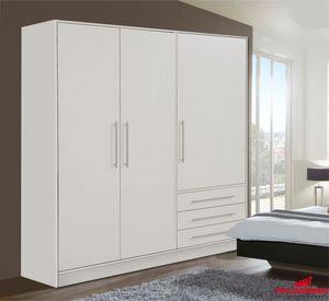 Kleiderschrank Schlafzimmeschrank 145cm weiß matt