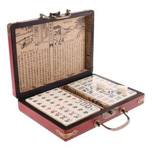 Chinesisches Mah Jongg Mahjong Brettspiel Gesellschaftsspiel mit Koffer