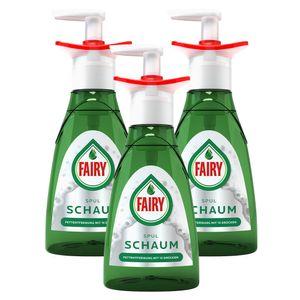 3x Fairy Handspülmittel Geschirrspülmittel Spülschaum Pumpflasche Starter 350ml