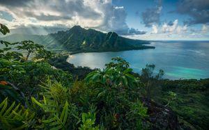"Komar Vlies Fototapete ""Jurassic Islandÿ"" - Größe: 450 x 280 cm (Breite x Höhe) - 9 Bahnen"