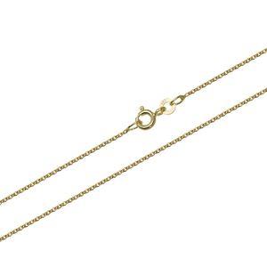 55cm Ankerkette 333 Gelbgold massiv Halskette Anker Kette rund 1.1mm 2,15gr 9428