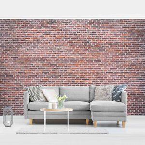 Steintapete Vliestapete - Backstein Tapete Amsterdam rot - Fototapete Breit, Größe HxB:320cm x 480cm