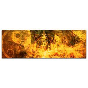 Leinwandbild - Buddha Urban, Größe:120 x 40 cm