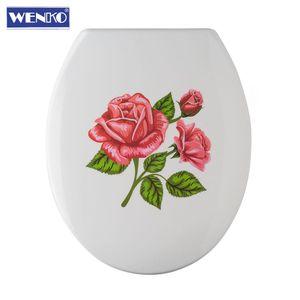 Wenko WC-Sitz Rosen-Romantik Rostfreie Befestigung Klodeckel Klobrille WC Deckel