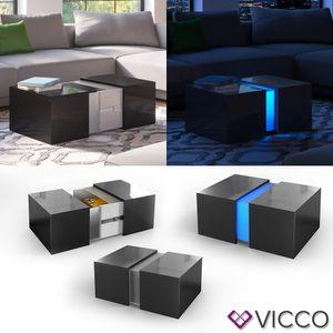 VICCO LED Couchtisch DANDY hochglanz Sofatisch Kaffeetisch Beistelltisch