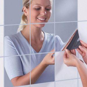 20 Stk DIY Spiegelfliesen Wandspiegel Spiegelfolie Selbstklebend Aufkleber Folie