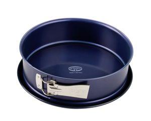 Dr. Oetker Springform Ø 28 cm BACK-LIEBE EMAILLE, Backform mit schnitt- & kratzfestem Flachboden mit Emaille-Versiegelung, runde Kuchenform mit Ring aus Stahlblech (Farbe: Blau), Menge: 1 Stück