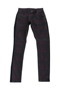 Blue Fire Co Damen Jeanshose W27 L29 Tartan Mix Chloe Skinny Fit Low Rise #BB05B