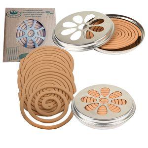 10 x Citronella-Spiralen in Blechdose Mückenschutz Insektenschutz Rauchspirale