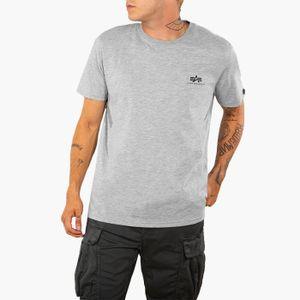 ALPHA INDUSTRIES Basic Small Logo Herren T-Shirt Grau, Größenauswahl:L