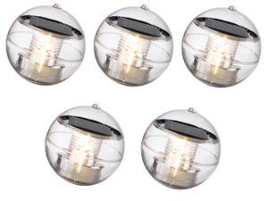 5 x LED Schwimmleuchte Kugelleuchte Solar Teichleuchte Schwimmlicht Teichlampe Teich