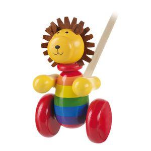NICI Schiebetier Löwe, Babyspielzeug, Spielzeug, Tier, Orange Tree Toys, Holz, Bunt, 46004