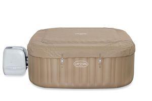 LAY-Z-SPA® Palma HydroJet Pro™ Whirlpool, 201 x 201 x 80 cm, 5-7 Personen, eckig, braun / camel