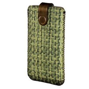 Hama Tasche (Sleeve) Mobiltelefon, Smartphone - Grün - Bast, Fleece Interior