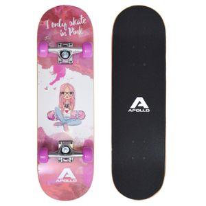 "Apollo Kinderskateboard ""Skaterprincess"" 71cm Kinderboard Skateboard mit 9 Lagen Holzdeck"