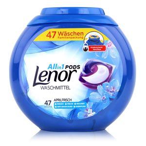 Lenor Allin1 Pods Waschmittel Aprilfrisch 47 WL - Anti-Grauschleier (1er Pack)