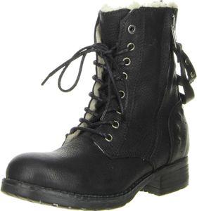 BULLBOXER Damen Stiefeletten Echtleder schwarz, Größe:41, Farbe:Schwarz