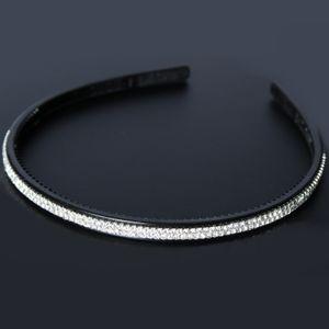 JUSTFOX - Luxus Haarreifen schwarz mit Strass