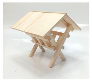 Miniatur Futterkrippe aus Holz. 10 cm.  Für Weihnachtskrippe. Krippenzubehör