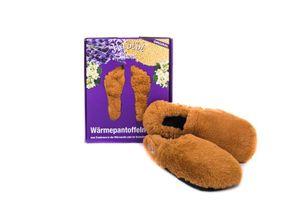Habibi Wärmeschuhe aufheizbare Thermo Hausschuhe Fußwärmer für Mikrowelle & Ofen - caramel, Schuhgröße L (EUR 41-45)