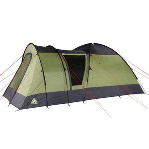 10T Kopenhagen 5 - 5 Personen Kuppelzelt, Campingzelt mit riesiger 10,8 m² XXL Schlafkabine, wasserdichtes Trekking Zelt
