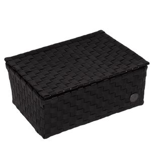 HANDED BY Udine Box Schachtel mit Deckel black / schwarz Aufbewahrungs Korb