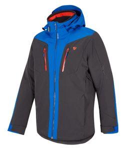 Ziener Herren Wintersport Skijacke Ski-Jacke Winterjacke TWOMILE man grau blau, Größe:58