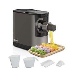 GEKER Vollautomatische Nudelmaschinen | Elektrische Nudelmaschine Elektrische Pasta Maker,Mit 6 verschiedenen Nudelformen,Nudelmaschine mit Reinigungswerkzeug, 200W