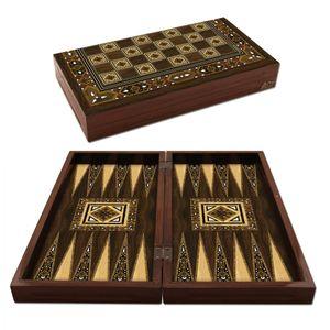 Star Antik Mozaik Backgammon Tavla