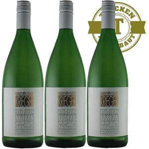 Weißwein Pfalz Weißburgunder Weingut Krieger Rhodter Ordensgut trocken (3 x 1,0L )