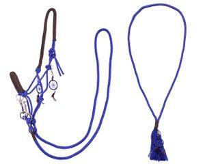 Knotenhalfter kombi Liberty Pony Kobaltblau