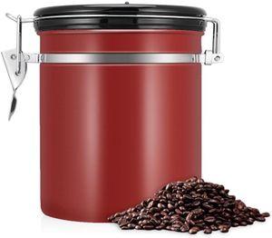 1.5L Kaffeedose Luftdicht Edelstahl mit Deckel und Aromaverschluss Kaffeebohne Behälter für Kaffeebohnen Kaffeepulver Tee Kakao Nahrungsmittel