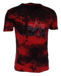 ALPHA INDUSTRIES BASIC T BATIK Herren T-Shirt, Größe:L, Alpha Industries Farben:Speed Red