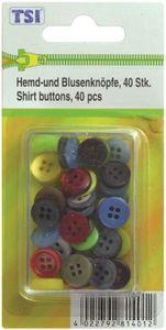 Knopfset / bestehend aus 40 Knöpfe / Hemdknöpfe und Blusenknöpfe