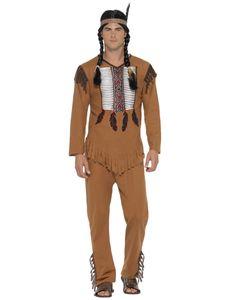 Western Herren Kostüm Indianer Karneval Fasching Gr.XL