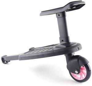 25kg  Buggyboard   TrittbrettStand für Kinderwagen Trittbrett Sitz  Rollbrett für 3-7 Jahre Kinder Jogger Board Rosa