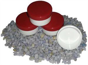 100 Salbendosen, Salbendose 5 g  6ml Deckel rot