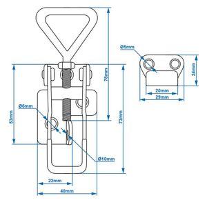 ProPlus Verschluss verstellbar 115-125 mm inkl. Anti-Stück Silber