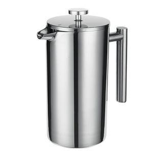 350 ml French Press Edelstahl-Kaffeemaschine, doppelt isoliert, 4-stufige Filtration